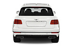 Straight rear view of 2019 Bentley Bentayga 4wd 5 Door SUV Rear View  stock images