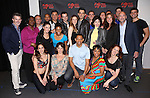 Joseph Siravo, Bryan Fenkart, Teal Weeks, Zak Resnick, Linda Hart, Derrick Baskin, D'adre Aziza and Leslie Kritzer with the ensemble cast and creative team attend the 'Piece of my Heart: The Bert Berns Story'  Meet & Greet at the rehearsal studios at The Pershing Square Signature Center on June 11, 2014 in New York City.