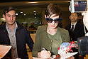 Anne Hathaway Arrives in Japan