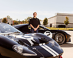 October 18, 2019. Charlotte, North Carolina.<br /> <br /> (left to right) Rob Kauffman and his Ford GT Mark II and the contemporary Ford GT.<br /> <br /> Rob Kauffman is owner of Charlotte, NC-based RK Motors, a classic car restoration and sales shop. In 1966 a Ford racing team beat Ferrari at Le Mans. Kauffman has the Ford GT Mk II that won the race. He also owns a new Ford GT painted in the same paint scheme as the 1966 car.<br /> <br /> Jeremy M. Lange for The Wall Street Journal