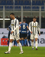 Calcio, Serie A: Inter Milano - Juventus FC , Giuseppe Meazza (San Siro) stadium, in Milan, January 17, 2021.<br /> Juventus' Cristiano Ronaldo (l) after Inter's goal during the Italian Serie A football match between Inter and Juventus at Giuseppe Meazza (San Siro) stadium, January 17,  2021.<br /> UPDATE IMAGES PRESS/Isabella Bonotto