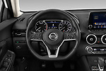 Car pictures of steering wheel view of a 2020 Nissan Sentra SV 4 Door Sedan Steering Wheel