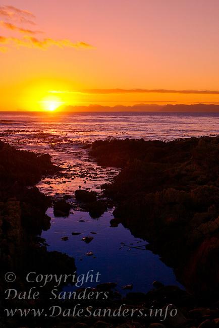 Sunset, DeKelders, South Africa.