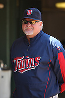 OAKLAND, CA - JUNE 11:  Manager Ron Gardenhire of the Minnesota Twins watches from the dugout during the game against the Oakland Athletics at the Oakland Coliseum in Oakland, California on Thursday, June 11, 2009.  The Athletics defeated the Twins 4-3.  Photo by Brad Mangin