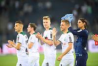 Team MG on the lap of honor, left to right Laszlo BENES (MG), Nico ELVEDI (MG), Patrick HERRMANN (MG), goalwart Yann SOMMER (MG) Soccer 1. Bundesliga, 1st matchday, Borussia Monchengladbach (MG) - FC Bayern Munich (M) 1: 1, on August 13th, 2021 in Borussia Monchengladbach / Germany. #DFL regulations prohibit any use of photographs as image sequences and / or quasi-video # Â