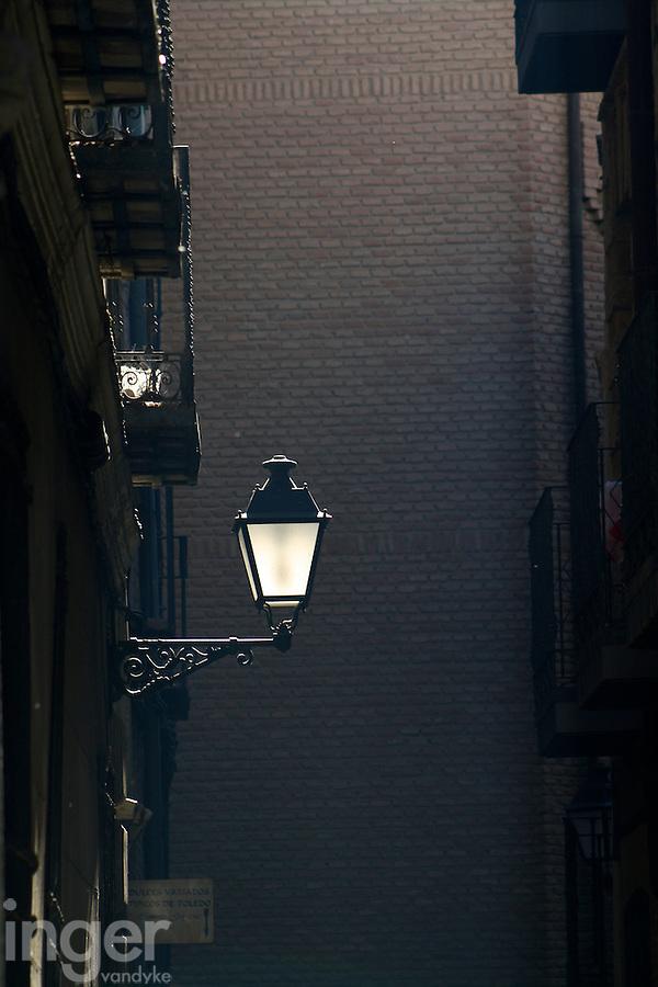 Streetlight in Toledo, Spain