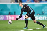 ST PETERSBURG, RUSSIA - JUNE 12 :  Thibaut Courtois goalkeeper of Belgium pictured during the 16th UEFA Euro 2020 Championship Group B match between Belgium and Russia on June 12, 2021 in St Petersburg, Russia, 12/06/2021 <br /> Photo Photonews / Panoramic / Insidefoto <br /> ITALY ONLY