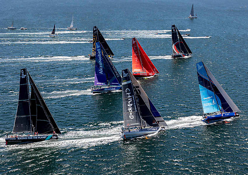 Racing in the second leg of The Ocean Race Europe from Cascais in Portugal to Alicante in Spain