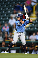 Charlotte Stone Crabs first baseman Jake Bauers (23) at bat during a game against the Bradenton Marauders on April 20, 2015 at McKechnie Field in Bradenton, Florida.  Charlotte defeated Bradenton 6-2.  (Mike Janes/Four Seam Images)