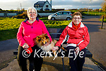 Taking Ben the dog for a walk in Blennerville on Monday were Mary O'Mahoney and Rosaleen Flynn.