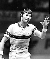 1984, Jimmy Connors (USA) argues with the umpire
