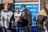 Zoe Backstedt (GBR), post race<br /> <br /> Women Junior – Road Race (WC)<br /> Race from Leuven to Leuven (75km)<br /> <br /> UCI Road World Championships – Flanders Belgium 2021<br /> <br /> ©kramon