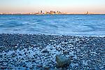 Sunrise on Boston Harbor in Winthrop, Massachusetts, USA