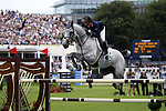 August 07, 2009: Penelope Leprevost (FRA) in action aboard Mylord Carthago. Meydan FEI Nations Cup. Failte Ireland Horse Show. The RDS, Dublin, Ireland.