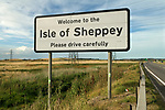 Isle of Sheppey Kent UK. Welcome sign.