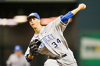 Starting pitcher Taylor Rogers #34 of the Kentucky Wildcats in action against the Rice Owls at Minute Maid Park on March 4, 2011 in Houston, Texas.  Photo by Brian Westerholt / Four Seam Images