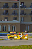 12-15 March 2008, Sebring, Florida, USA.Ryan Briscoe at the wheel of the Porsche RS Spyder #6..©F.Peirce Williams 2008, USA .