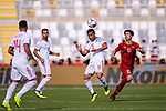 Omid Ebrahimi Zarandini of Iran (2nd R) heads the ball during the AFC Asian Cup UAE 2019 Group D match between Vietnam (VIE) and I.R. Iran (IRN) at Al Nahyan Stadium on 12 January 2019 in Abu Dhabi, United Arab Emirates. Photo by Marcio Rodrigo Machado / Power Sport Images