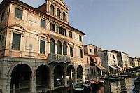 - palazzo antico a Chioggia (Venezia)....- ancient building in Chioggia, lagoon city south of Venice ( Italy ) Italia