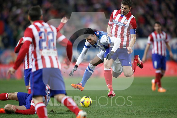 Atletico de Madrid V Real Sociedad, estadio Vicente calderón. Febrero 02, 2014. (ALTERPHOTOS/Victor Blanco)
