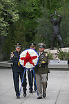Officers bring the memorial wreath into the annual Nevada Law Enforcement Officers Memorial Ceremony on the Capitol Mall in Carson City, Nev., on Thursday, May 7, 2015.<br /> Photo by Cathleen Allison