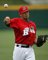 Frisco Rough Riders 2B German Duran during the 2007 AA Texas League Season. Photo by Andrew Woolley / Four Seam Images..