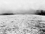 Pittsburgh PA: Looking up the Allegheny River towards the 6th Street Bridge during the flood of 1904.  The old 6th Street bridge in the background.