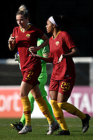 Emma Lipman of AS Roma talks with Allyson Swaby during the Women Italy cup round of 8 second leg match between AS Roma and Roma Calcio Femminile at stadio delle tre fontane, Roma, February 20, 2019 <br /> Foto Andrea Staccioli / Insidefoto