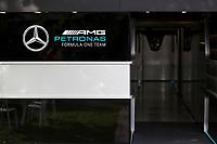13th March 2020; Melbourne Grand Prix Circuit, Melbourne, Victoria, Australia; Formula One, Australian Grand Prix, Practice Day; Mercedes garage
