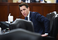 United States Senator Josh Hawley (Republican of Missouri) speaks at the US Senate Small Business and Entrepreneurship Hearings to examine implementation of Title I of the CARES Act on Capitol Hill in Washington, DC on Wednesday, June 10, 2020.  <br /> Credit: Kevin Dietsch / Pool via CNP/AdMedia