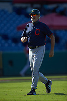 Cleveland Indians scout Bob Mayer jogs off the field following the final out of game eight during the East Coast Pro Showcase at the Hoover Met Complex on August 4, 2020 in Hoover, AL. (Brian Westerholt/Four Seam Images)