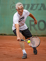 Hilversum, The Netherlands,  August 18, 2020,  Tulip Tennis Center, NKS, National Senior Championships, Men's single 70+ ,  Homme Heida (NED) <br /> Photo: www.tennisimages.com/Henk Koster