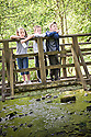 21/05/2010   Copyright  Pic : James Stewart.003_helix_green_team_walk  .::  HELIX PROJECT ::  GREENSPACE :: KIDS FROM THE HELIX GREEN TEAM TAKE A BREAK DURING THEIR WALK THROUGH THE EAST PART OF THE HELIX WOODLAND GREENSPACE  ::.