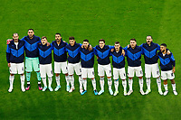 Italian players sing the anthem during the Uefa Euro 2020 round of 8 football match between Belgium and Italy at football arena in Munich (Germany), July 2nd, 2021. Photo Matteo Ciambelli / Insidefoto
