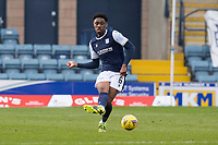 13th March 2021; Dens Park, Dundee, Scotland; Scottish Championship Football, Dundee FC versus Arbroath; Malachi Fagan-Walcott of Dundee threads a pass