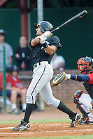 Bristol White Sox shortstop Nicholas Bastro #26 swings at a pitch during a game against the Elizabethton Twins at Joe O'Brien Field on June 25, 2012 in Elizabethton, Tennessee. The Twins defeated the White Sox 9-1. (Tony Farlow/Four Seam Images).