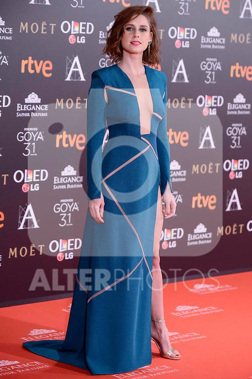 Manuela Velles attends to the Red Carpet of the Goya Awards 2017 at Madrid Marriott Auditorium Hotel in Madrid, Spain. February 04, 2017. (ALTERPHOTOS/BorjaB.Hojas)