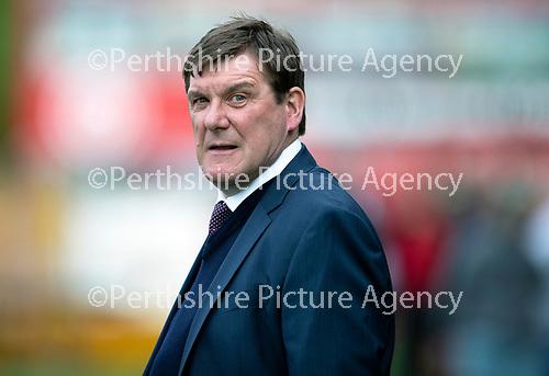 Hamilton Accies v St Johnstone…08.05.18…  New Douglas Park    SPFL<br />Saints manager Tommy Wright<br />Picture by Graeme Hart. <br />Copyright Perthshire Picture Agency<br />Tel: 01738 623350  Mobile: 07990 594431