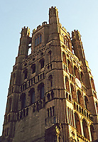 Ely: Ely Cathedral--West Tower. Photo '90.