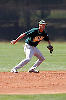 Jason Christian - Oakland Athletics - 2009 spring training.Photo by:  Bill Mitchell/Four Seam Images