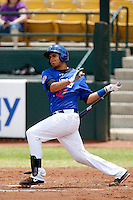 Francisco Pena #33 of the Las Vegas 51s bats against the Salt Lake Bees at Cashman Field on May 27, 2013 in Las Vegas, Nevada. Las Vegas defeated Salt Lake, 9-7. (Larry Goren/Four Seam Images)