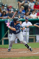 Corpus Christi Hooks third baseman Tyler White (20) at bat during the Texas League baseball game against the San Antonio Missions on May 10, 2015 at Nelson Wolff Stadium in San Antonio, Texas. The Missions defeated the Hooks 6-5. (Andrew Woolley/Four Seam Images)