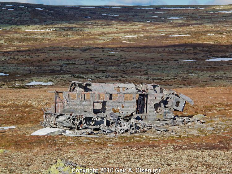 Trip to old plane wreck at Øverlihøgda, Ringebu