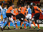 St Johnstone v Dundee United.....01.04.13      SPL.Liam Craig heads the ball in to score a late equaliser.Picture by Graeme Hart..Copyright Perthshire Picture Agency.Tel: 01738 623350  Mobile: 07990 594431