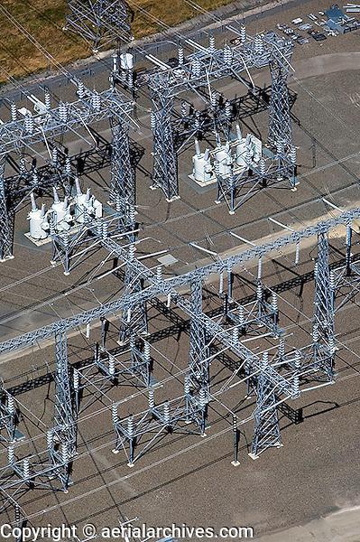 aerial photograph PG&E electrical sub-station, Petaluma, Sonoma county, California