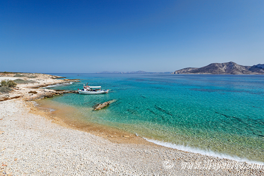 Chondros Kavos beach of Koufonissi island in Cyclades, Greece