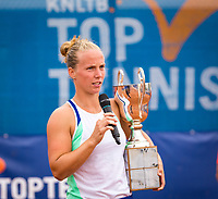 Amstelveen, Netherlands, 1 August 2020, NTC, National Tennis Center, National Tennis Championships,  womens single final: Winner Richel Hogenkamp  (NED) at the prizegiving