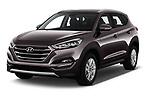 2018 Hyundai Tucson Premium 5 Door SUV angular front stock photos of front three quarter view