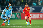 Adelaide United Forward Jordan O'doherty (R) in action during the AFC Champions League 2017 Group H match between Jiangsu FC (CHN) vs Adelaide United (AUS) at the Nanjing Olympics Sports Center on 01 March 2017 in Nanjing, China. Photo by Marcio Rodrigo Machado / Power Sport Images