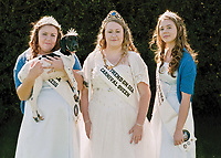 """Queen of Southend on Sea,Chloe Davey, with Princess Madison Ball, Princess Carla Davey and Elkie.<br /> <br /> """"What is the most proudest moment in your life so far and why?"""""""
